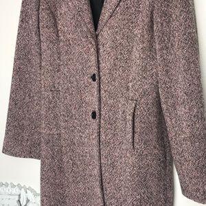 Express Design Studio pink wool trench coat